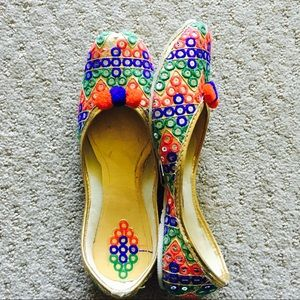 Shoes - New ! Mirror Embroidered Colorful Shoes